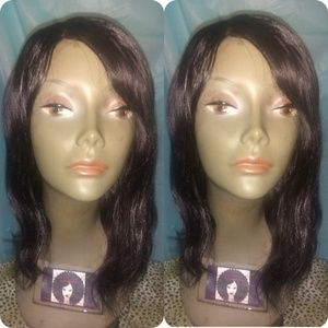 "12"" Brazilian human body wave hair wig"
